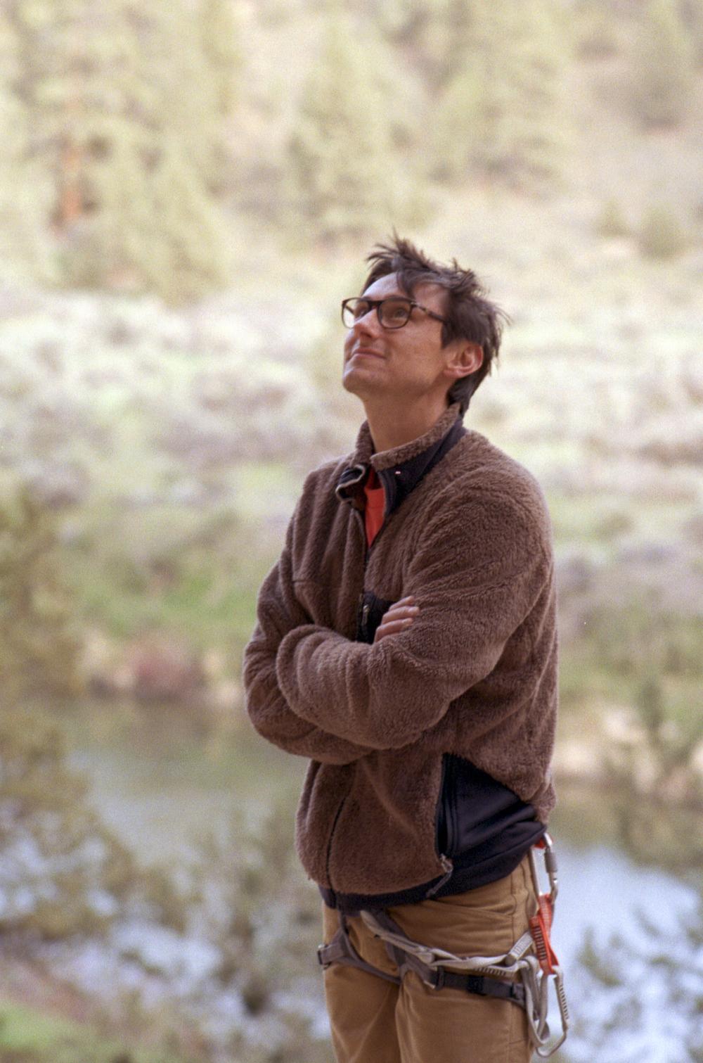 Erik looks on at Smith Rock