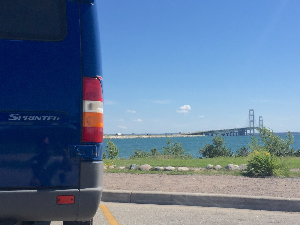 Just crossed over the Mackinac Bridge in the UP