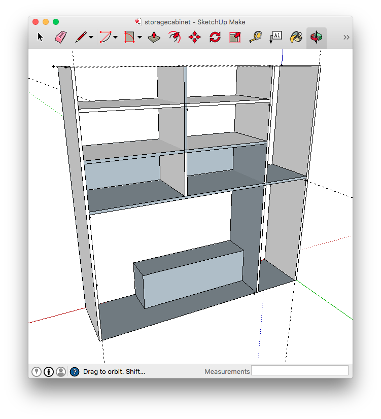 Shelving design in SketchUp