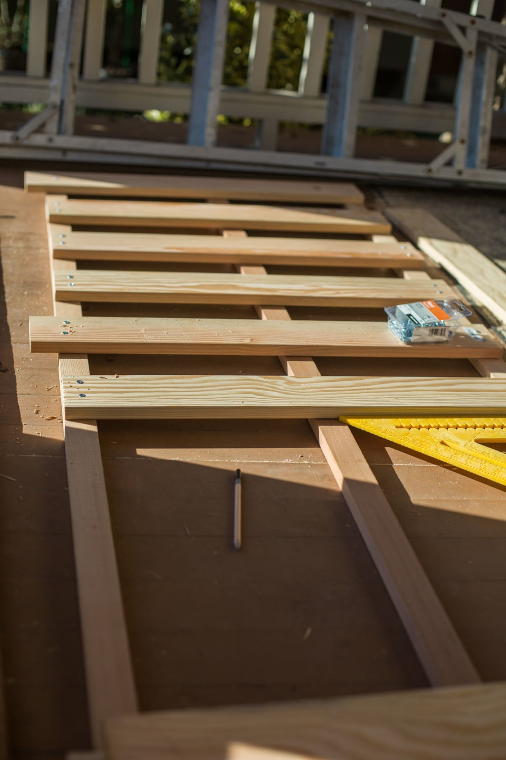 Putting slats on cedar runner