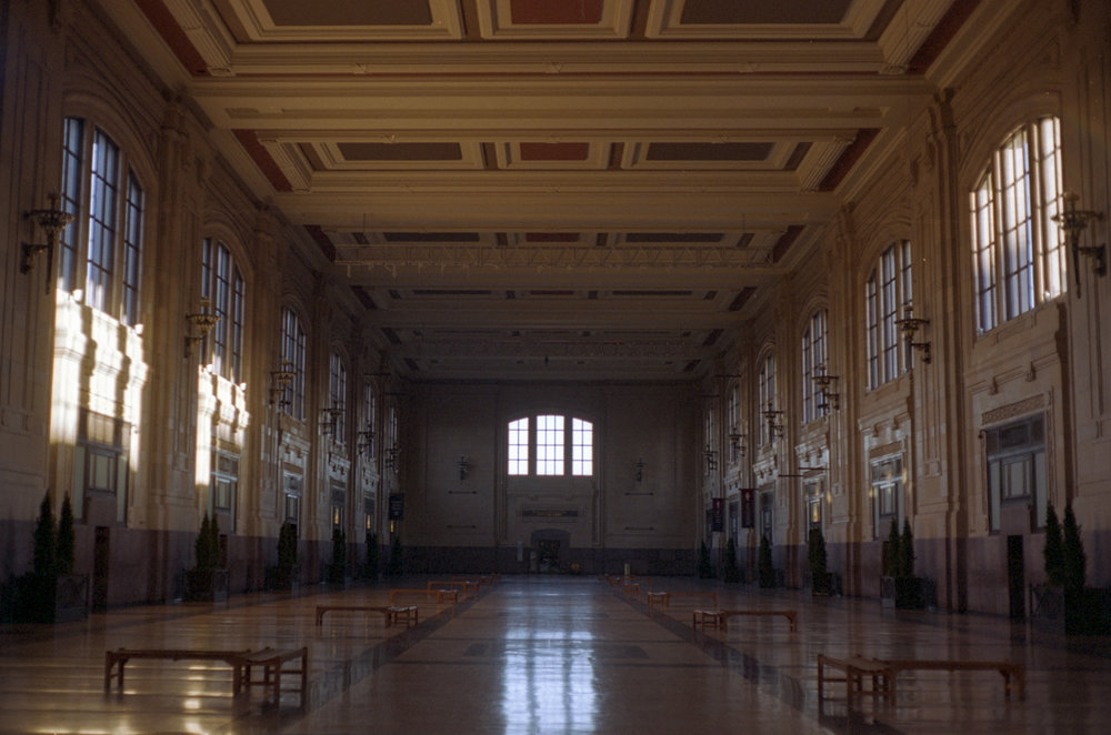 Union Station, Kansas City, MO. I was here for work and got some coffee. Beautiful morning light coming into this amazing historic building.
