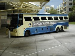 Disney's Magical Express provides shuttle services from Orlando's International Airport (MCO) to the on site Disney resorts at no additional charge