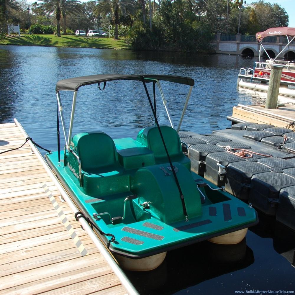 Pedal boats at Disneyworld.