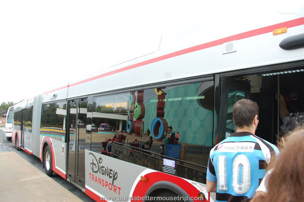 Disney's new articulated buses at Pop Century