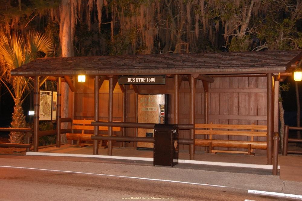 Bus stop at Disney's Fort Wilderness Resort & Campground / Walt Disney World Resort.