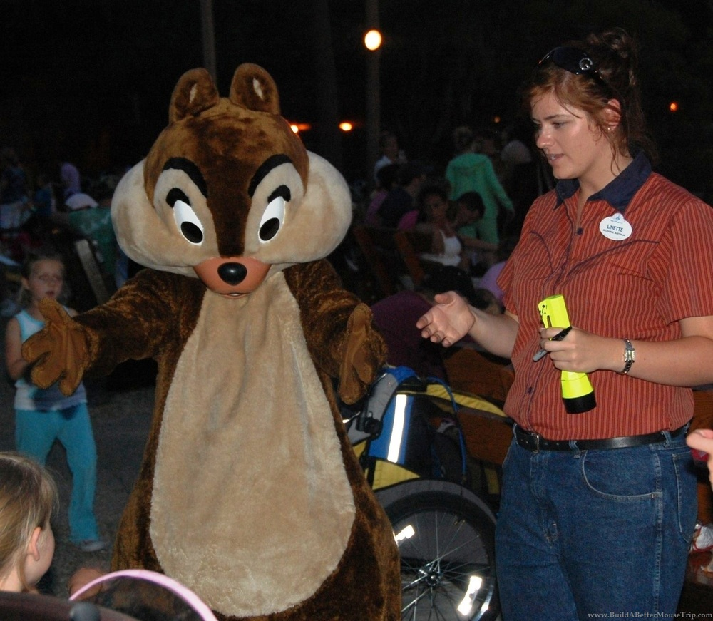 Free Disney Character Meet-And-Greet - Chip 'n Dale's Campfire Sing-A-Long at Disney World.