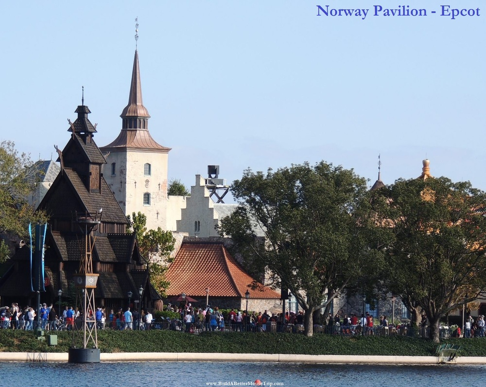 Norway Pavilion in the Epcot World Showcase - home to the Frozen Ever After ride, Anna & Elsa meet-and-greet. and Princess Dining at Akershus Royal Banquet Hall.