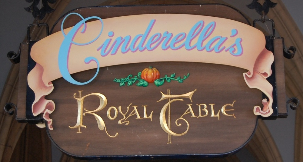 Cinderella's Royal Table Princess Breakfast, Lunch, and Dinner in the Magic Kingdom at Disney World.