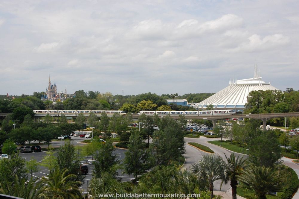 Disney's  Contemporary resort is the closest hotel to the Magic Kingdom, within easy walking distance.