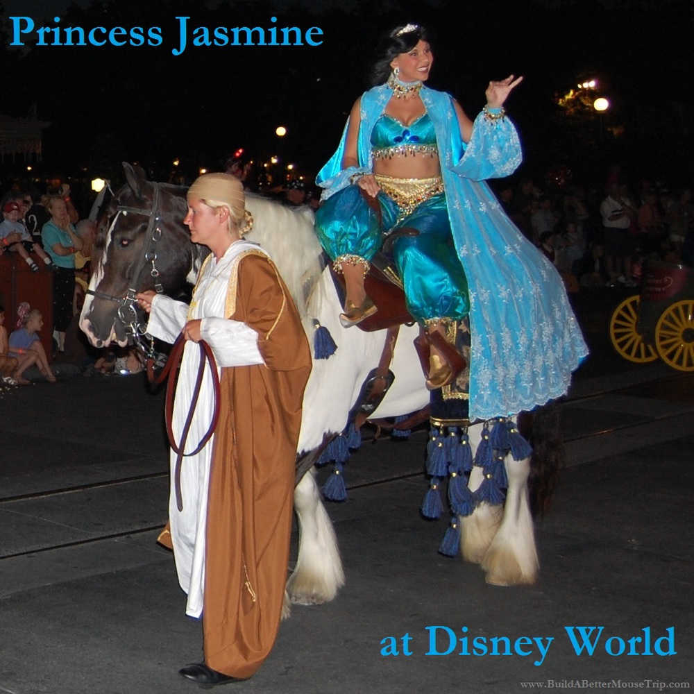 Disney World Tips & Secrets - A list of places to find Princess Jasmine, from Aladdin, at Walt Disney World Resort in Florida.  See: http://www.buildabettermousetrip.com/princess-jasmine-at-disney-world