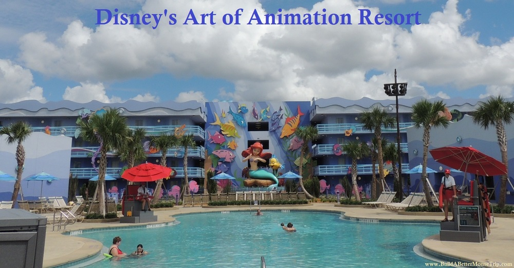 Little Mermaid buildings at Disney's Art of Animation Resort at Disney World.
