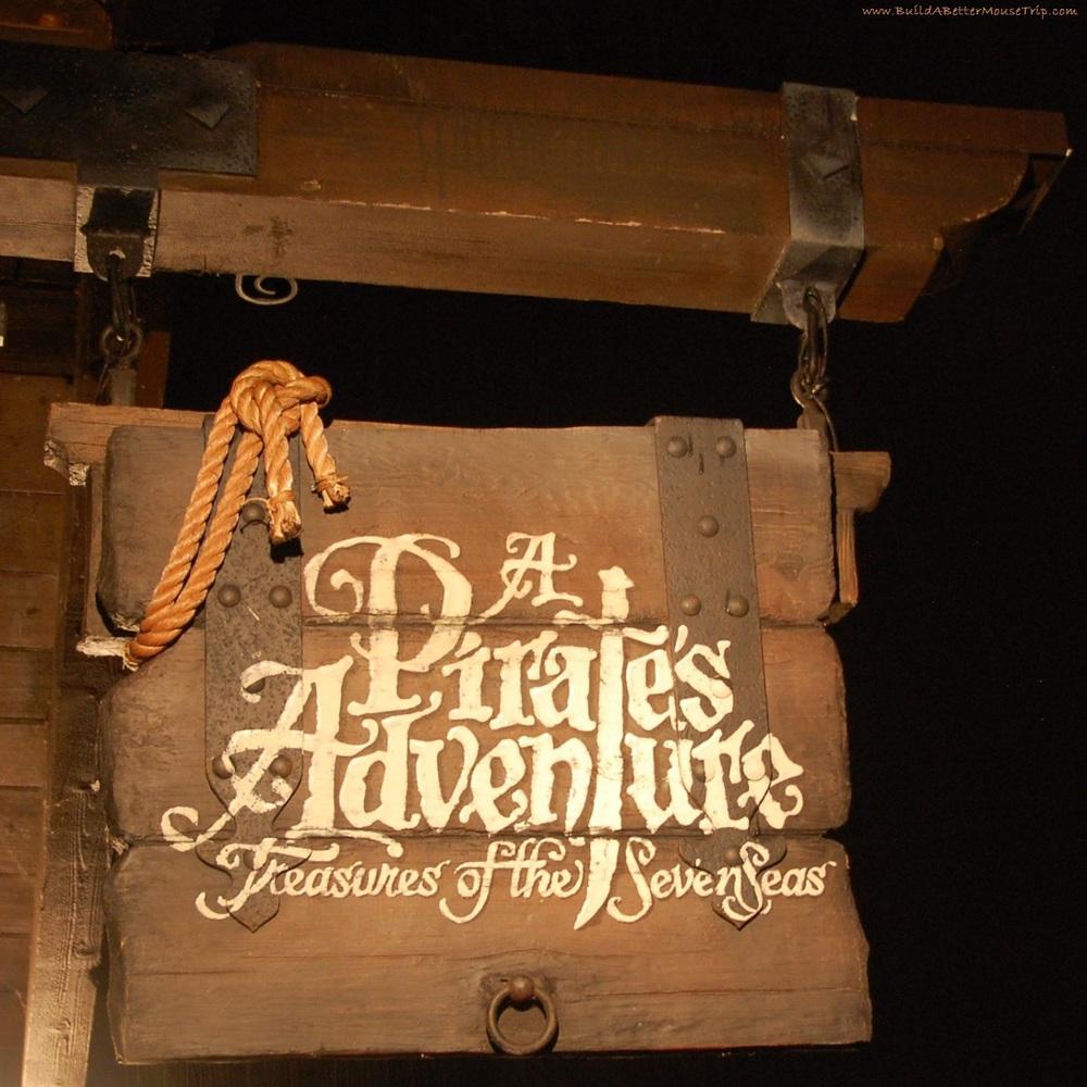 A Pirate's Adventure in Adventureland in the Magic Kingdom at Disney World