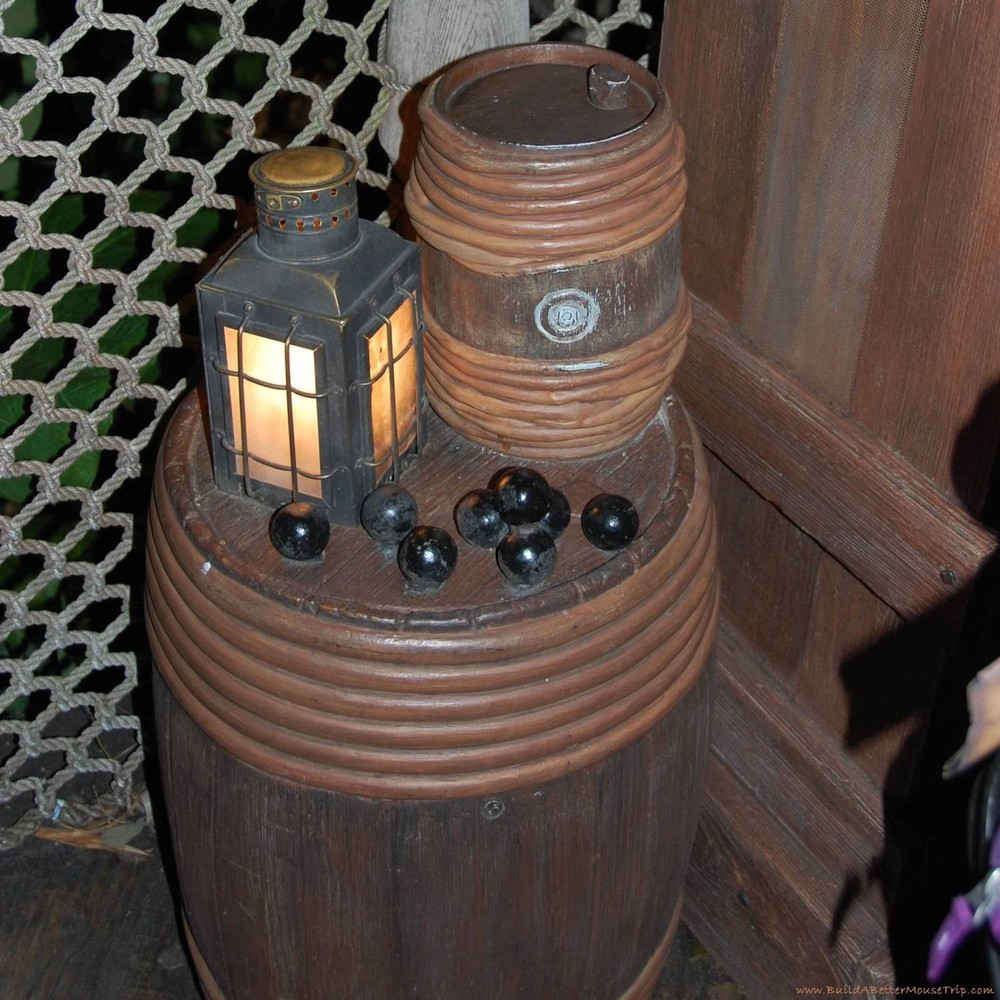 Finding Pirates at Disney World - Activity station for A Pirate's Adventure in the Magic Kingdom