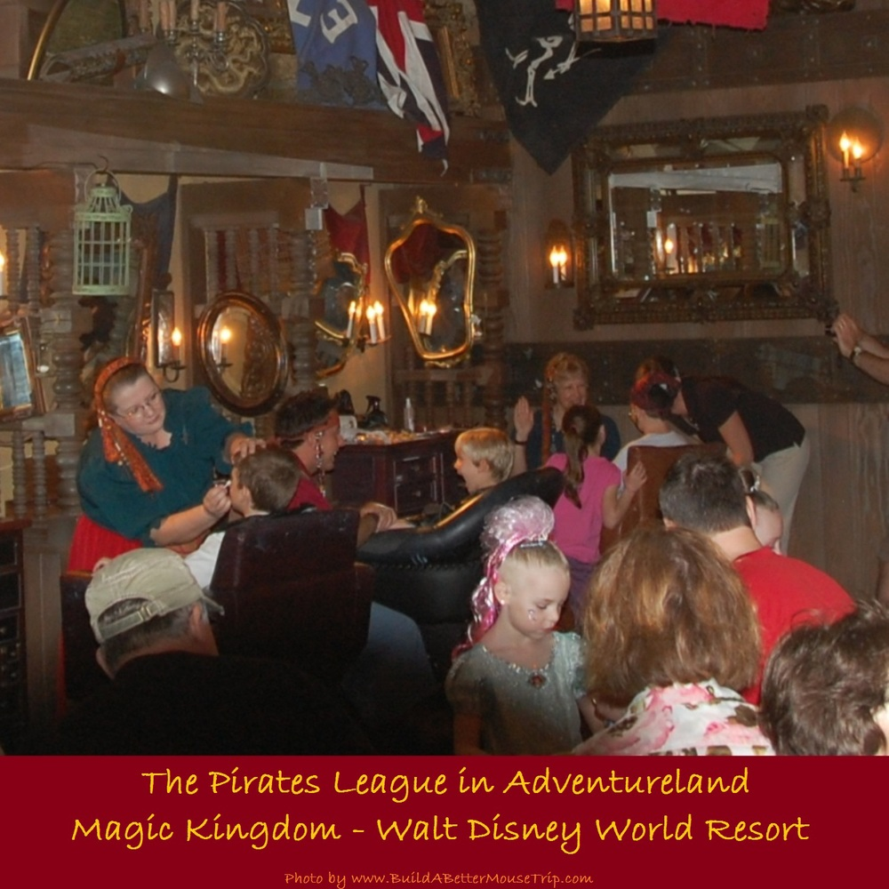 The Pirate's League in Adventureland in the Magic Kingdom theme park at Disney World