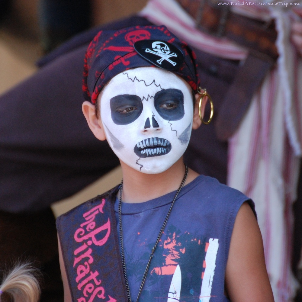 Example of the Pirate make-over from The Pirates League at Disneyworld