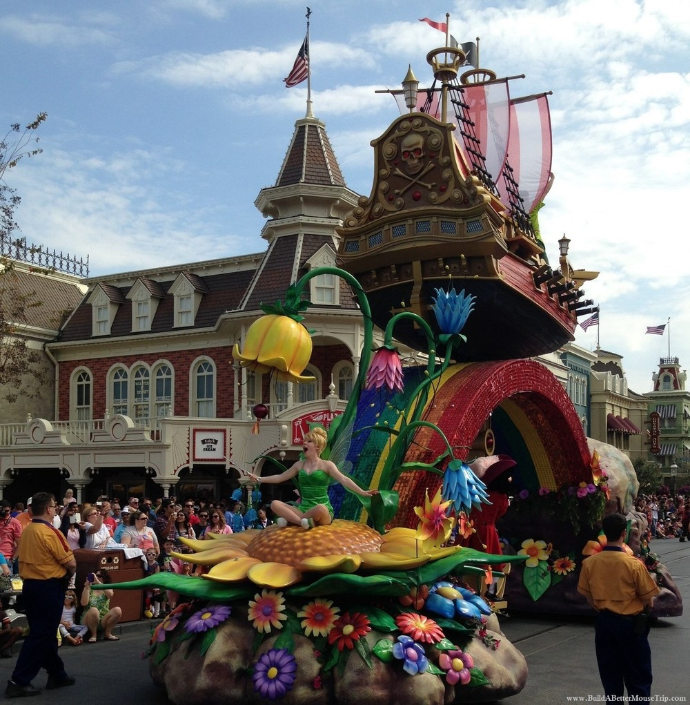 Finding Pirates at Disney World - Peter Pan float in the Festival of Fantasy parade at Disney World.