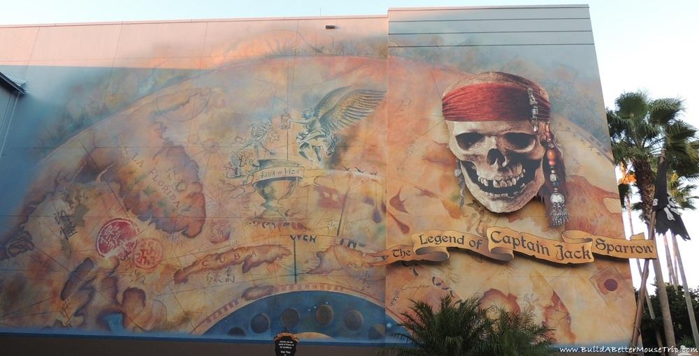 The Legend of Captain Jack Sparrow in Disney's Hollywood Studios - Disney World.