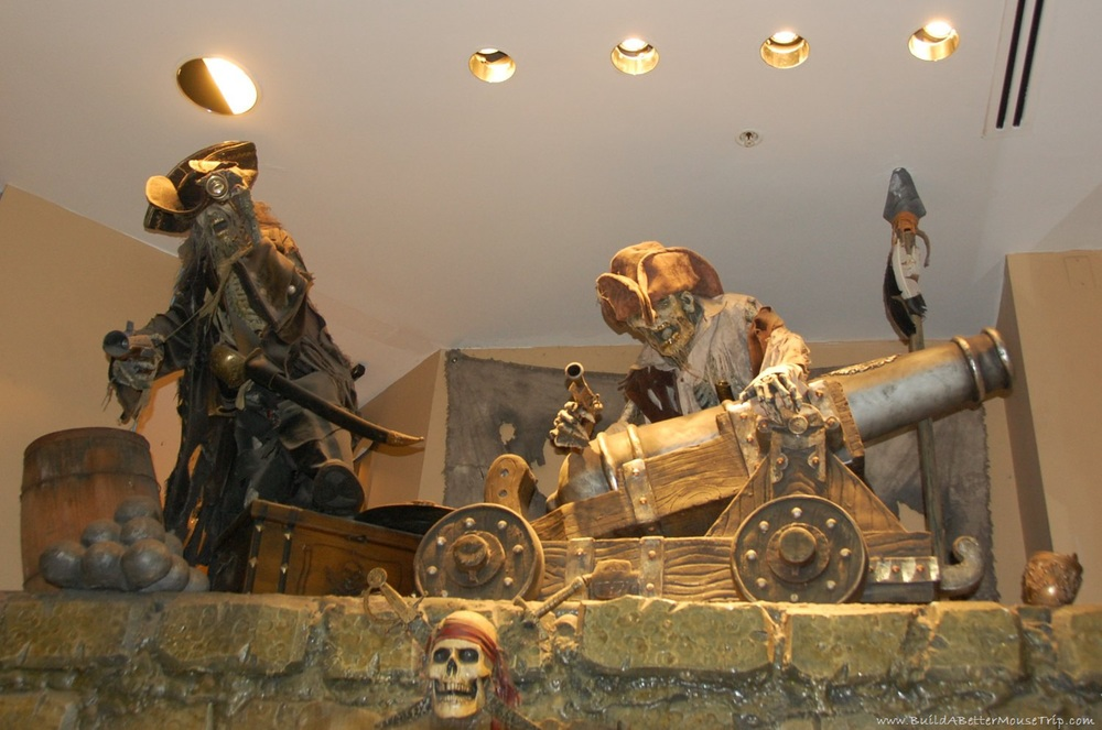 Pirate display in the World of Disney Store at Downtown Disney - Florida.