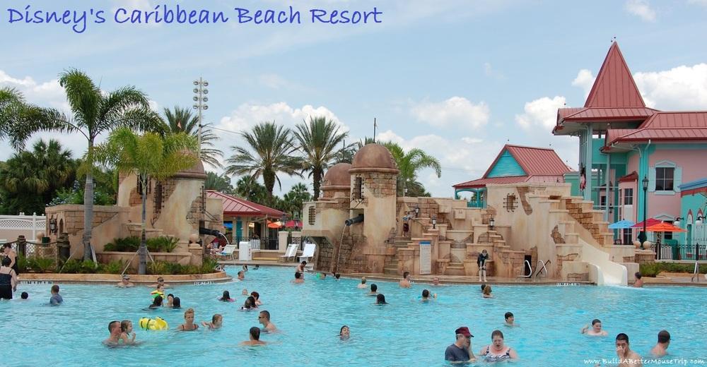 Finding Pirates at Disney World - Pirate fort themed pool at Disney's Caribean Beach Resort - Disney World / Florida