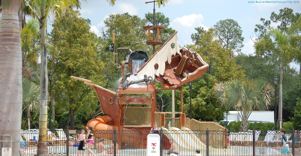 Pirate Ship Splash Zone at Disney's Caribbean Beach Resort - Disneyworld