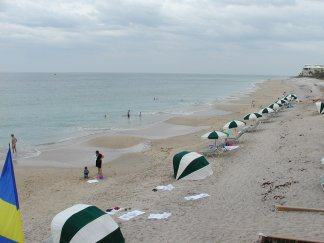 Beautiful groomed beach at Disney's Vero Beach Resort