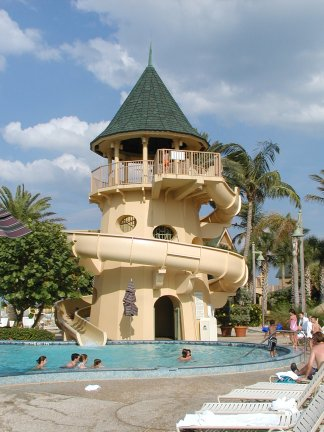 Pool slide at Disney's Vero Beach Resort