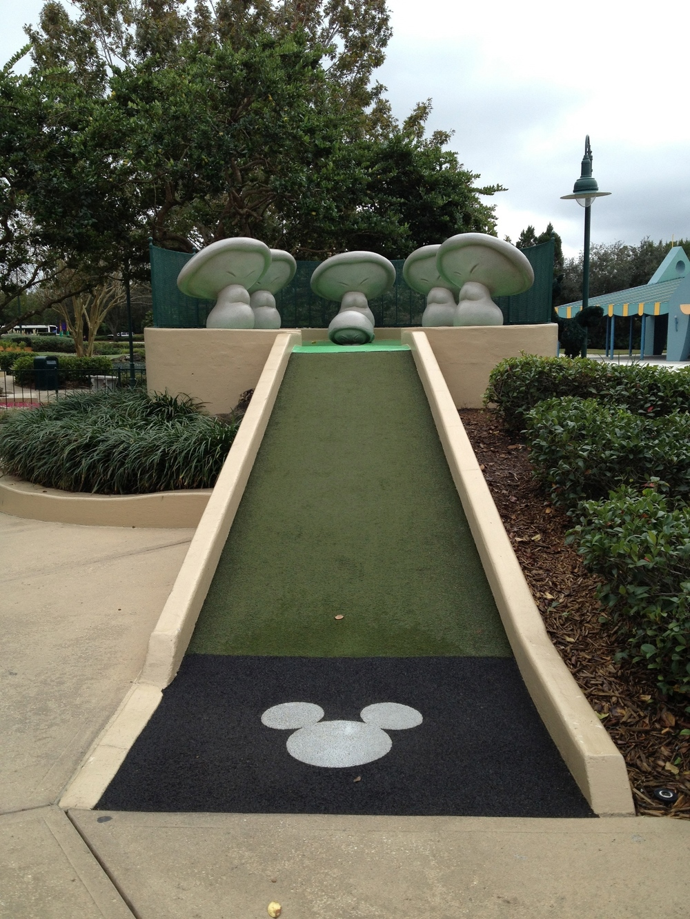 Fantasia Gardens Mini-Golf at Disney World.