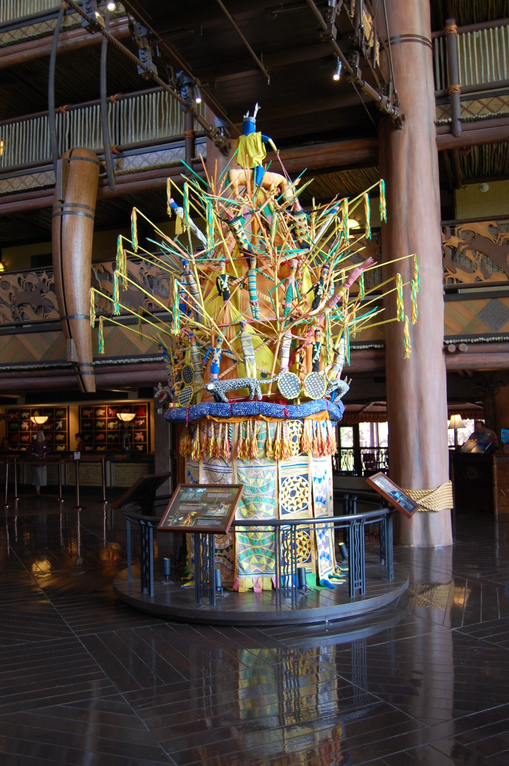 There is a large collection of African Art on display at Disney's Animal Kingdom Lodge / Walt Disney World Resort.
