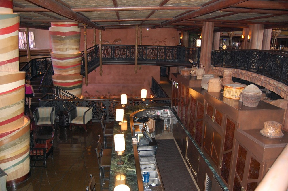 Victoria Falls Lounge at Disney's Animal Kingdom lodge - Disney World.