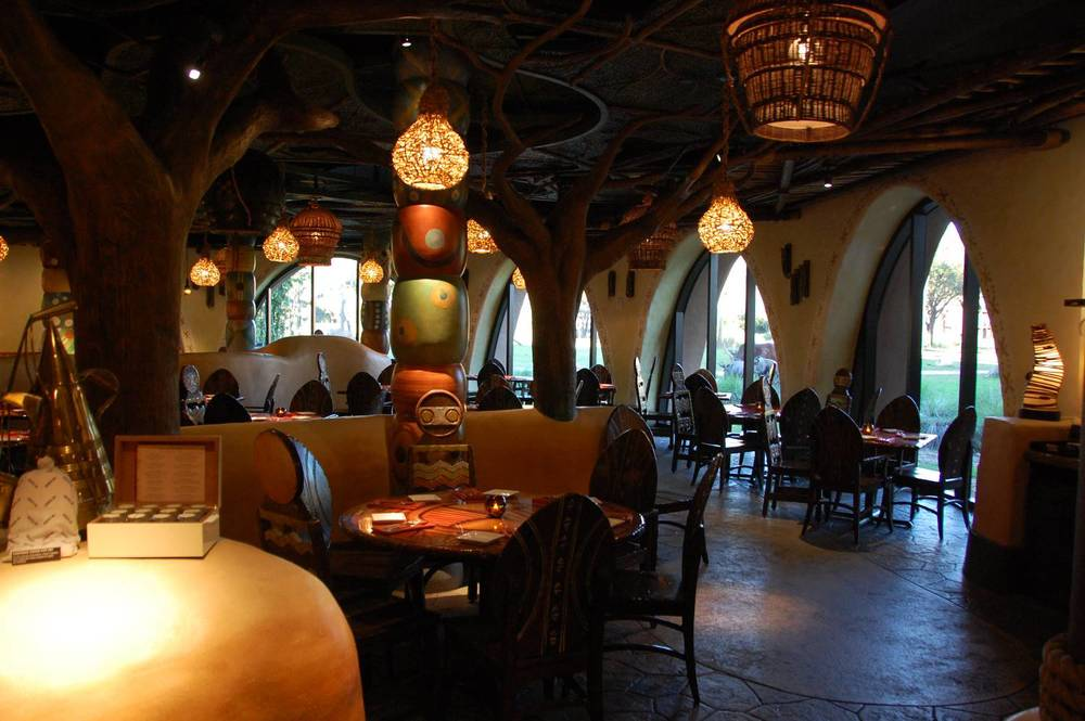 Sanaa - a unique sit down restaurant in the Kidani Village building at Disney's Animal Kingdom Lodge.