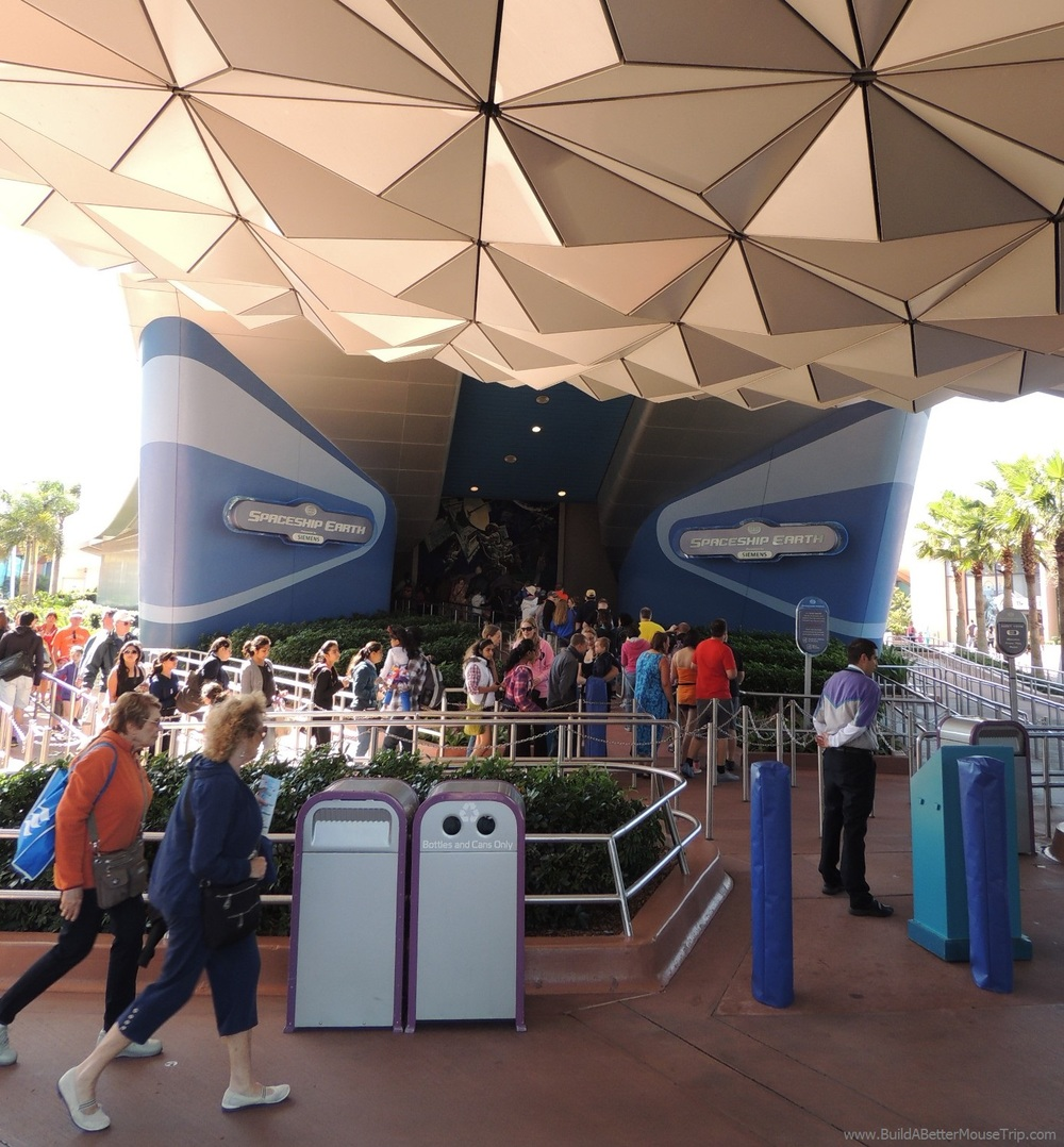 Spaceship Earth is the ride inside the big silver sphere at Epcot