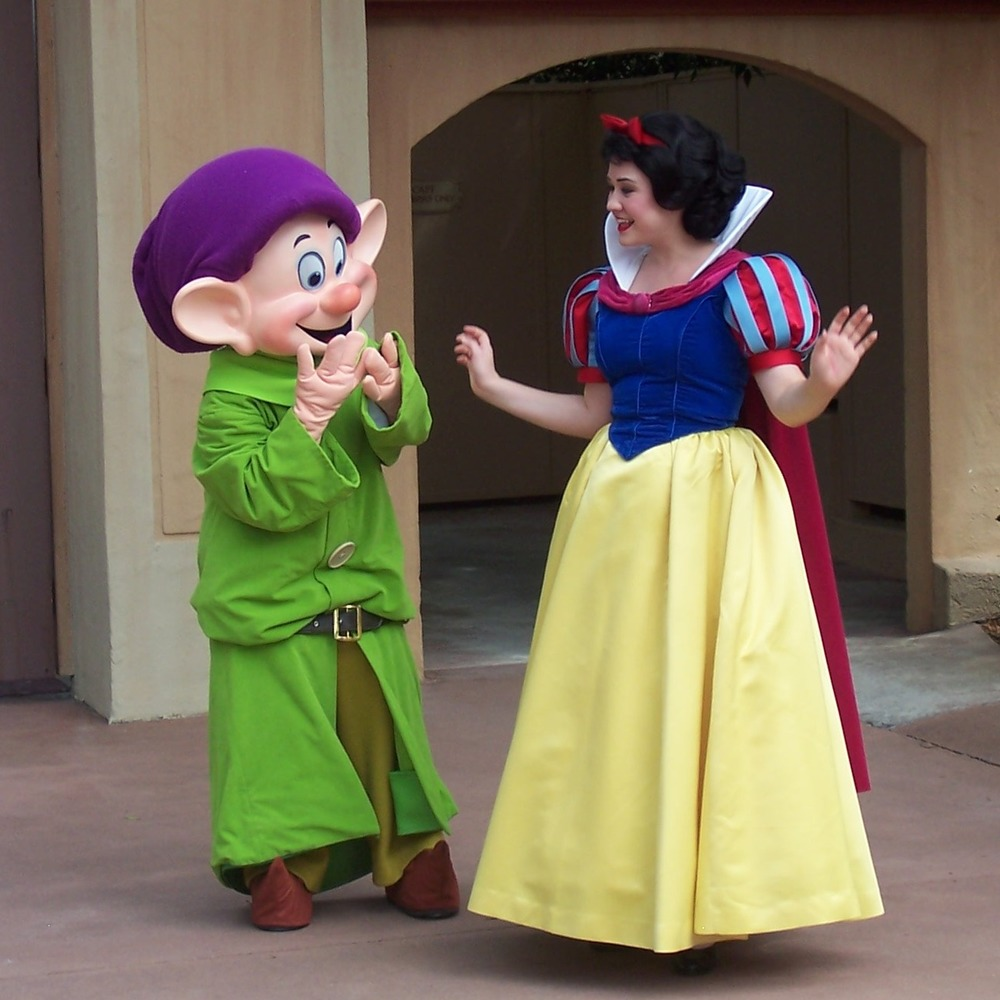 Snow White in the Germany Pavilion in the World Showcase area of Epcot at Disney World.