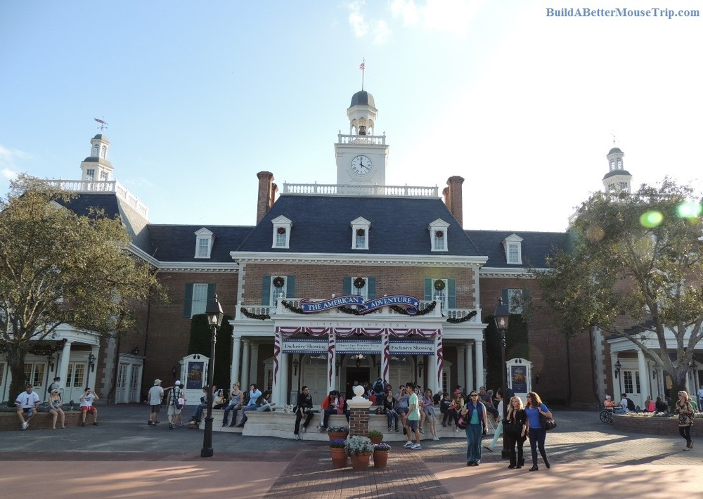 The American Adventure in the Epcot World Showcase at Disney World.