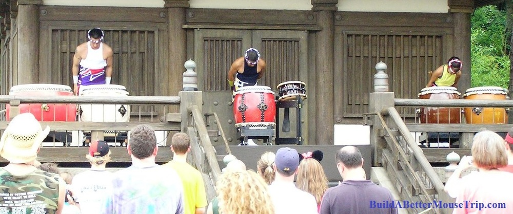 The Matsuriza Taiko Drummers in the Japan pavilion at Epcot