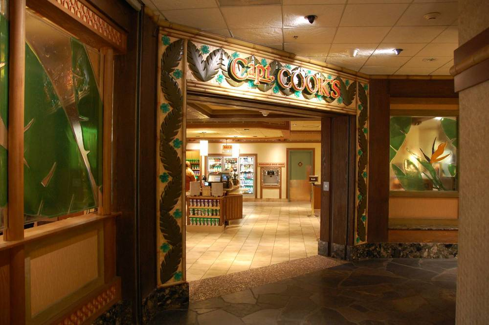 Captain Cook's, a quick-service restaurant at Disney's Polynesian Village Resort / Disney World Magic Kingdom hotel area.