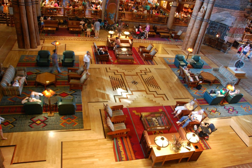 Disney's Wilderness Lodge Lobby - Disney World / Florida.