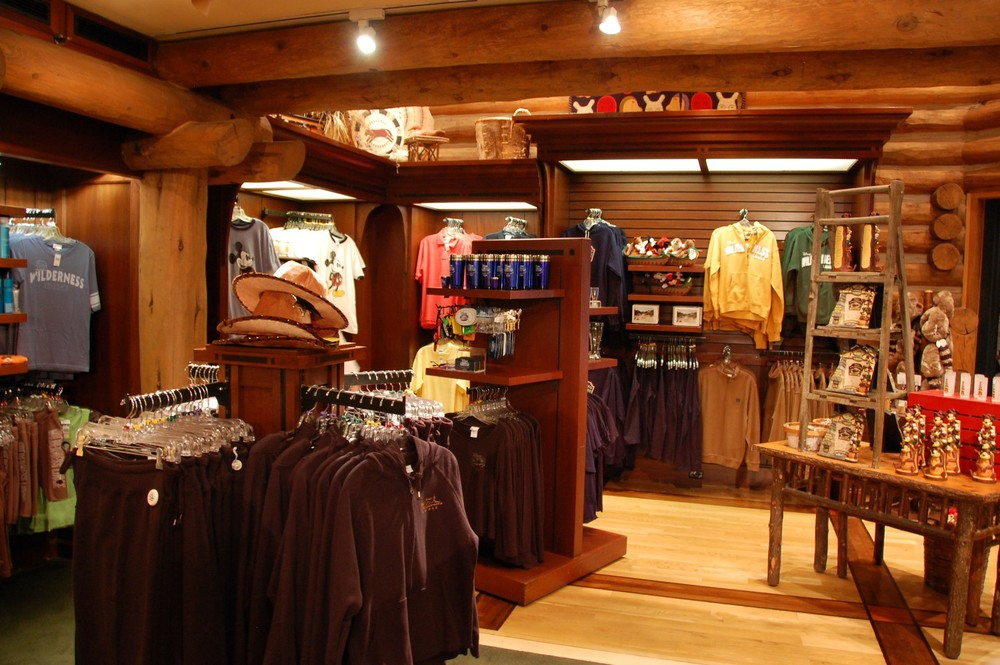 The gift shop at Disney's Wilderness Lodge - Walt Disney World Resort / Florida.