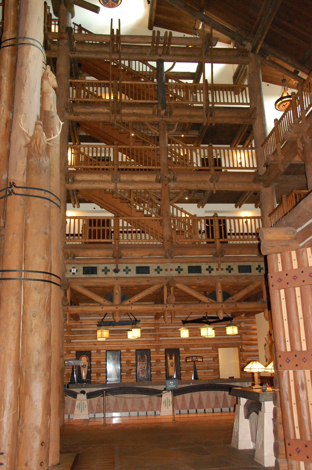 Grand Staircase at Disney's Wilderness Lodge Resort / Disney World - Florida.