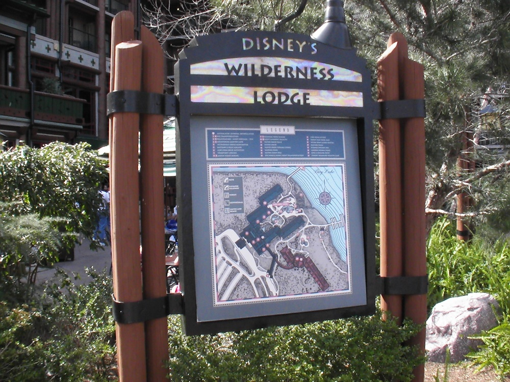 Disney's Wilderness Lodge Resort Map