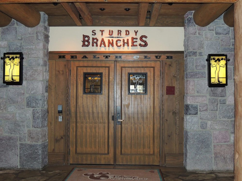 Sturdy Branches Fitness Center at Disney's Wilderness Lodge Resort.