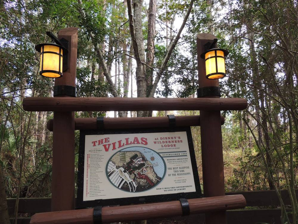 Villas at Disney's Wilderness Lodge sign - Walt Disney World Resort.