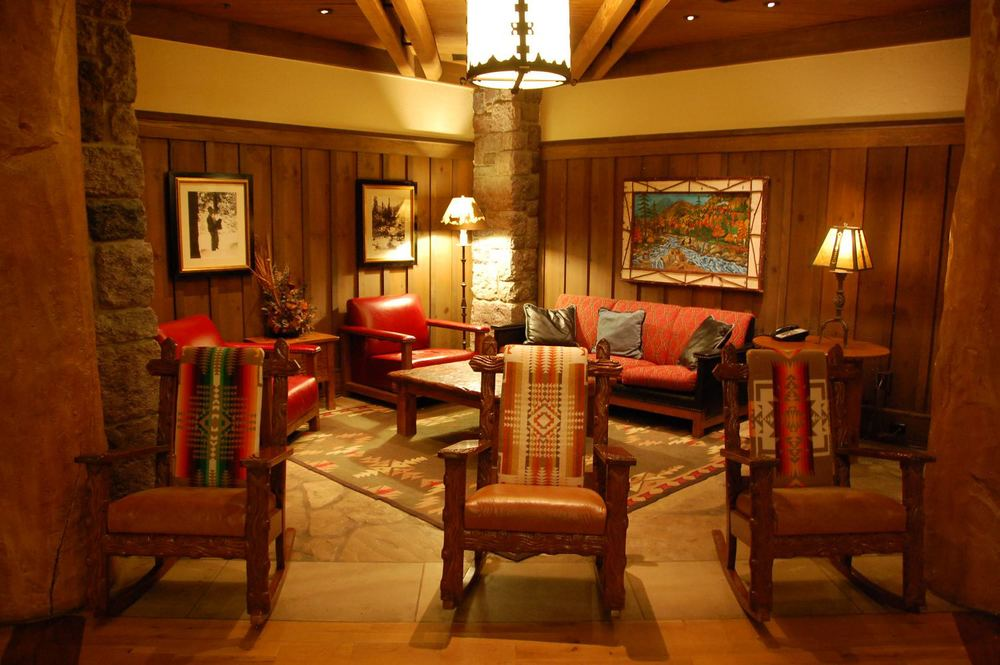 Sit and relax for awhile in this cozy corner in the lobby of the Villas at Disney's Wilderness Lodge at the Walt Disney World Resort in Florida.
