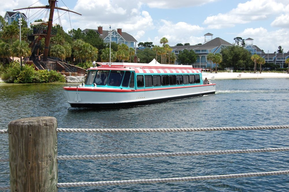 Disney's Yacht Club Boat Transportation around the resort area and to Epcot and Disney's Hollywood Studios theme parks.