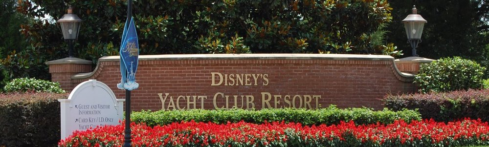 Disney's Yacht Club Sign - A hotel in the Epcot area of the Walt Disney World REsort in Florida.