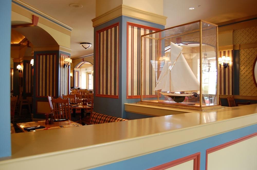 Captain's Grille, a restaurant at Disney's Yacht Club Resort - Disney World.