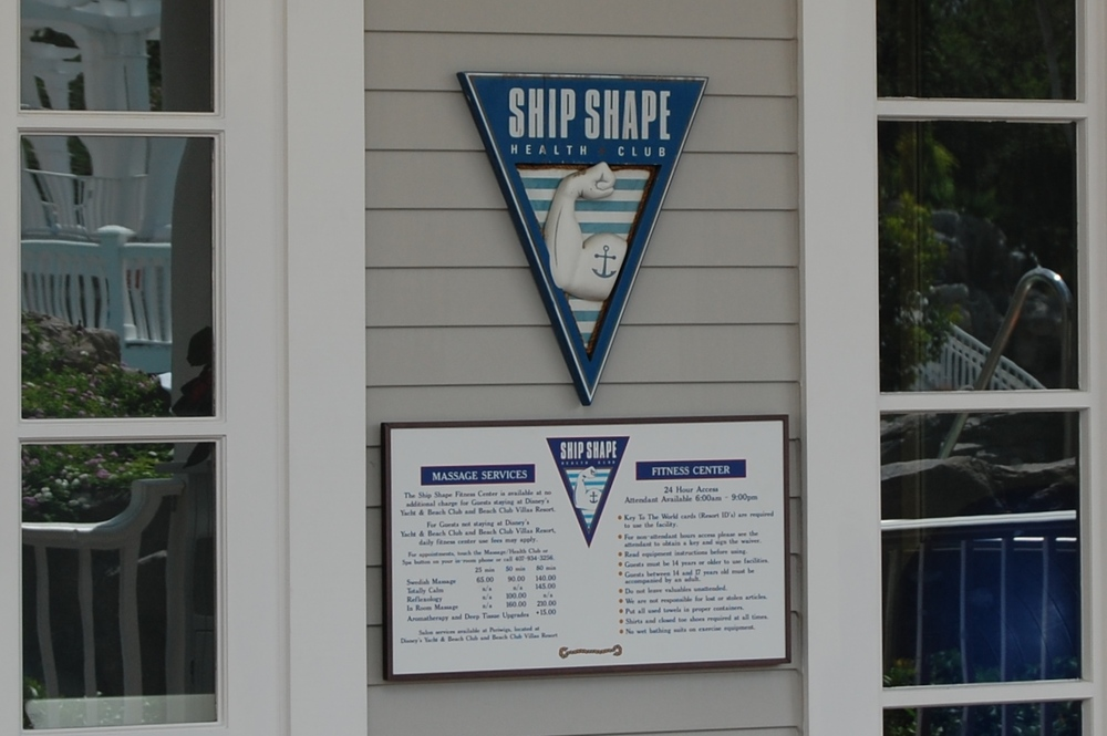 The Ship Shape fitness center is available to guests of Disney's Yacht and Beach Club hotels - Walt Disney World Resort in Florida.