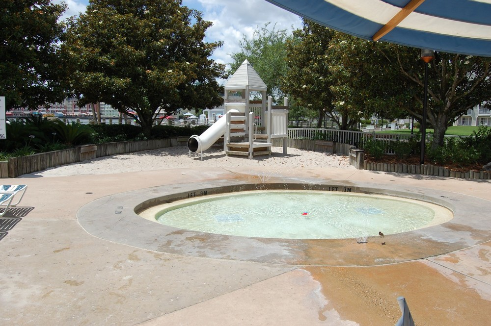 Kiddie Pool and Playground at Disney's Yacht Club Resort - Walt Disney World