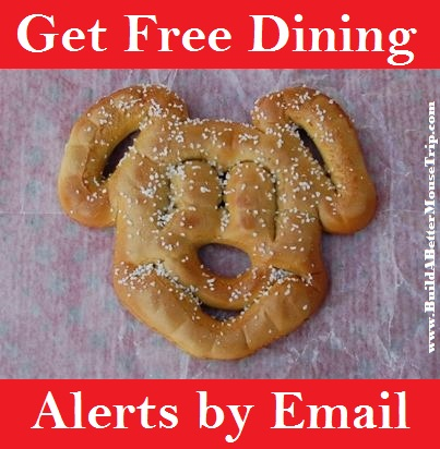 Get an email every time Disney releases a free dining promotion.  Sign up at http://www.buildabettermousetrip.com/free-dining
