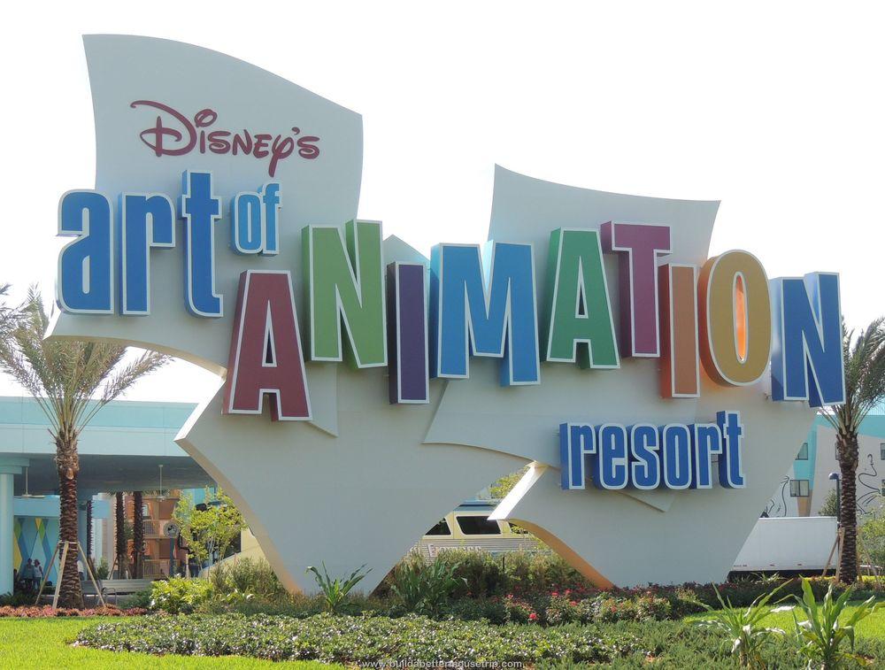Disney's Art of Animation Resort Sign