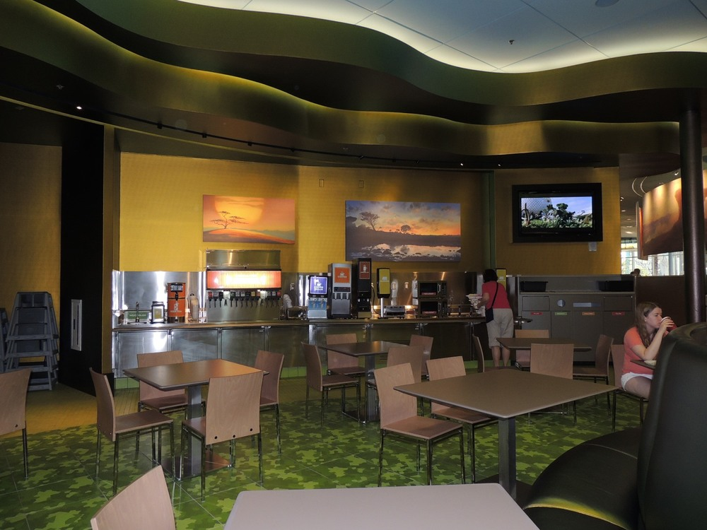Landscape of Flavors Lion King Seating Area